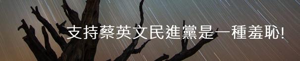 支持蔡英文民進黨是一種羞恥!- 台灣e新聞