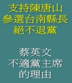 支持陳唐山參選台南縣長  絕不退黨;蔡英文不適任民進黨黨主席的理由