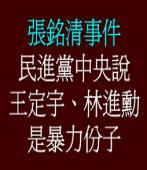 民進黨中央說:王定宇、林進勳是暴力份子