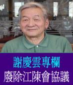 517遊行應訴求廢除江陳會協議 ◎謝慶雲