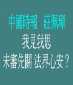 我見我思-未審先關 法界心安?◎中國時報莊佩璋