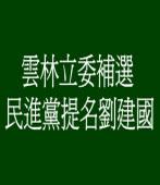 雲林立委補選 民進黨提名劉建國
