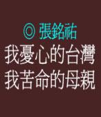我憂心的台灣,我苦命的母親 ◎張銘祐