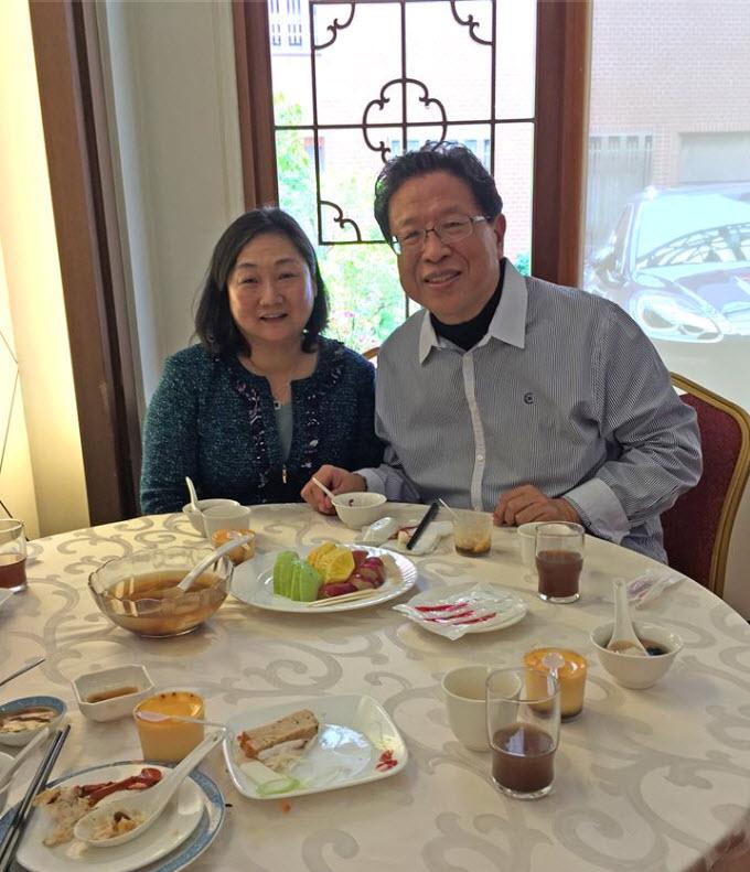 汪笨湖與 Jenny Tsai於台南「阿霞大飯店」