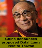 China denounces proposed Dalai Lama visit to Taiwan