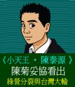 陳菊妥協看出綠營分裂與台灣大輸◎文/陳泰源