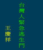 「台灣人緊急逃生門」的設計、製造、操作手冊