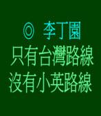 只有台灣路線 沒有小英路線◎李丁園