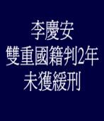 李慶安雙重國籍判2年 未獲緩刑