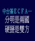 中台簽ECFA…… 分明是兩國,硬掰是雙方
