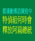 蔡漢勳專訪陳致中:特偵組何時會釋放阿扁總統