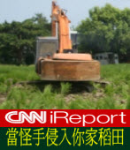CNN iReport:當怪手侵入你家稻田