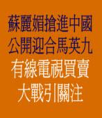蘇麗媚搶進中國 公開迎合馬英九 有線電視買賣大戰引關注
