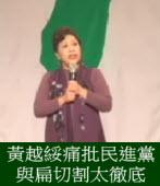 黃越綏痛批國民黨政治操作&民進黨與扁切割太徹底