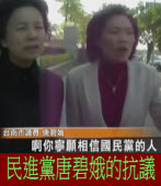 民進黨唐碧娥的抗議:侮辱同志之前,請先提證據