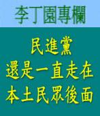 民進黨還是一直走在本土民眾後面| 李丁園專欄|台灣e新聞