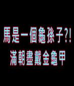 馬是龜孫子?!滿朝盡戴金龜甲|台灣e新聞
