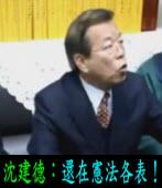 還在憲法各表!|◎ 沈建德 |台灣e新聞