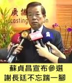 蘇貞昌宣布參選 謝長廷不忘踹一腳?|台灣e新聞