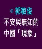 不安與無知的中國「現象」 |◎ 郭敏俊|台灣e新聞