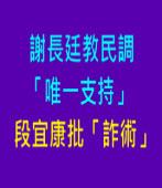 謝教民調「唯一支持」 ,段宜康批「詐術」 |台灣e新聞