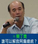 誰可以解救阿扁總統?|◎蔡丁貴|台灣e新聞
