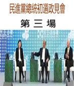 對民進黨第三場總統政見會投票|台灣e新聞
