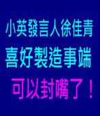 蔡英文發言人徐佳青喜好製造事端 可以封嘴了!|台灣e新聞