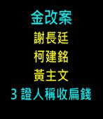 金改案 謝柯黃3證人稱收扁錢 |台灣e新聞