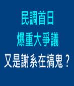 民調首日爆重大爭議  又是謝系在搞鬼?∣◎ jt |台灣e新聞