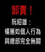 卸責!阮昭雄:這是楊蕙如的個人行為,與總部完全無關∣台灣e新聞