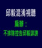 扁辦:扁不排除控告邱毅誹謗  ∣台灣e新聞