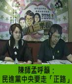 陳師孟呼籲:民進黨中央要走「正路」 |台灣e新聞
