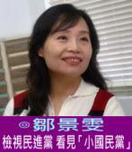 檢視民進黨 看見「小國民黨」 ∣◎鄒景雯|台灣e新聞