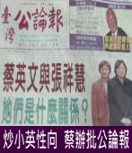 炒小英性向╱蔡辦批公論報|台灣e新聞