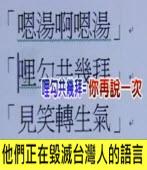 他們正在毀滅台灣人的語言|台灣e新聞