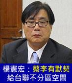楊憲宏:蔡李有默契 給台聯不分區空間 |台灣e新聞