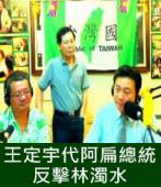 王定宇代阿扁總統反擊林濁水|台灣e新聞