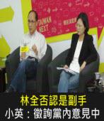 林全否認是副手 小英:徵詢黨內意見中|台灣e新聞