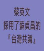 蔡英文採用了蘇貞昌的「台灣共識」|台灣e新聞