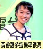 江志銘:黃睿靚參選機率很高 |台灣e新聞