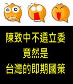 陳致中不選立委 竟然是台灣的即期國策?|◎ jt |台灣e新聞