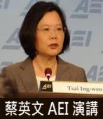 蔡英文 AEI 演講|台灣e新聞