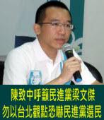參選綠分裂?陳致中:勿以台北觀點恐嚇民進黨選民 |台灣e新聞