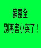 蘇嘉全,別再害小英了 |台灣e新聞