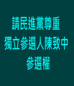 請民進黨尊重獨立參選人陳致中參選權|台灣e新聞