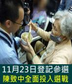 11月23日登記參選  陳致中全面投入參選|台灣e新聞