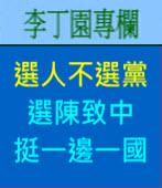選人不選黨 、選陳致中、挺一邊一國| 李丁園專欄|台灣e新聞