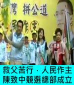 「挺台灣、拼公道、人民作主」 陳致中總部成立|台灣e新聞