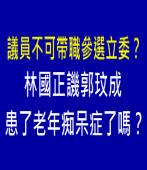 議員不可帶職參選立委? 林國正譏郭玟成患了老年痴呆症了嗎?|台灣e新聞